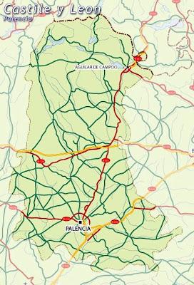Palencia Mapa Ciudad de la Región