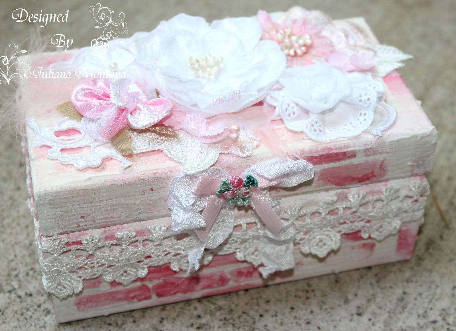 shabbychicjcouture shabby chic mixed media box. Black Bedroom Furniture Sets. Home Design Ideas