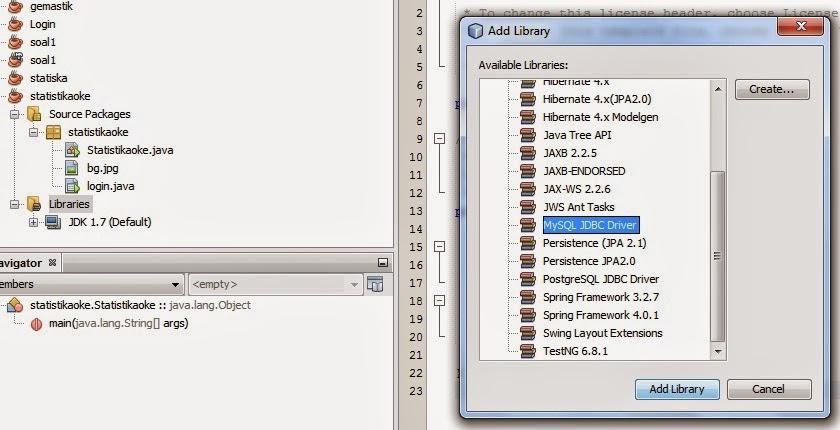 librarry - Membuat Kegiatan Mean Dengan Java Dan Mysql