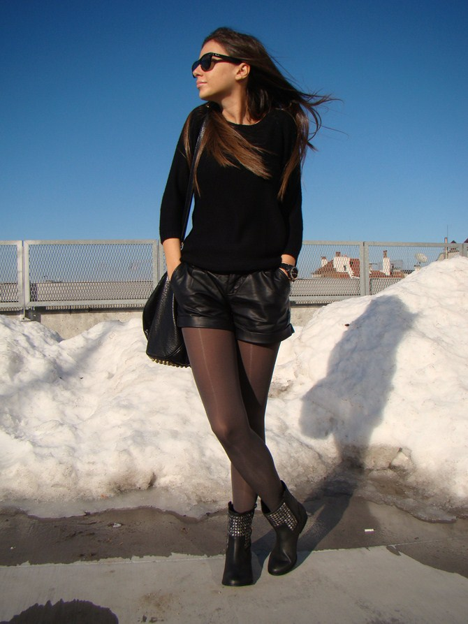 how to wear biker boots, fashion bloggers wearing biker boots 2012, the biker boots trend, studded biker boots, zara grey studded biker boots