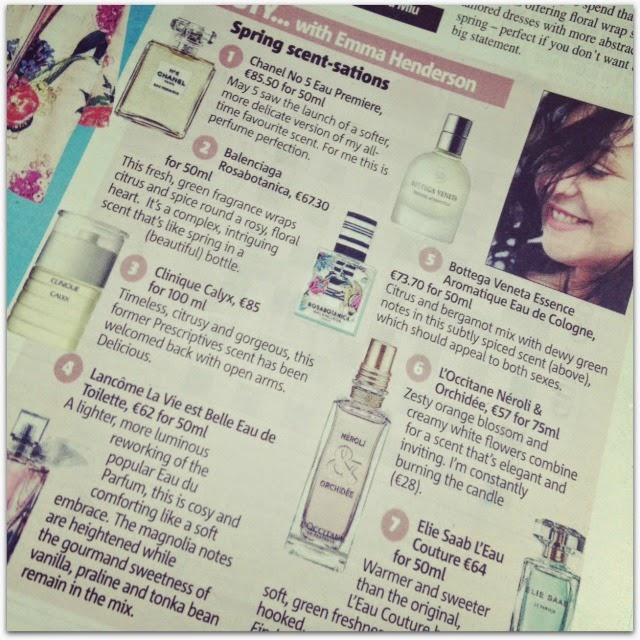Best Spring Scents Article in Metro Herald