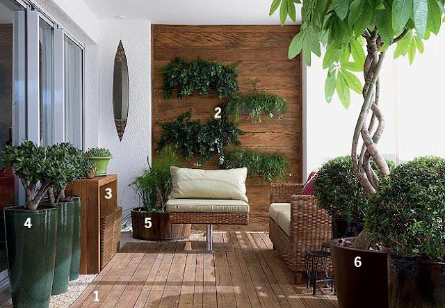 Um jardim para cuidar A sorte de ter uma varanda !