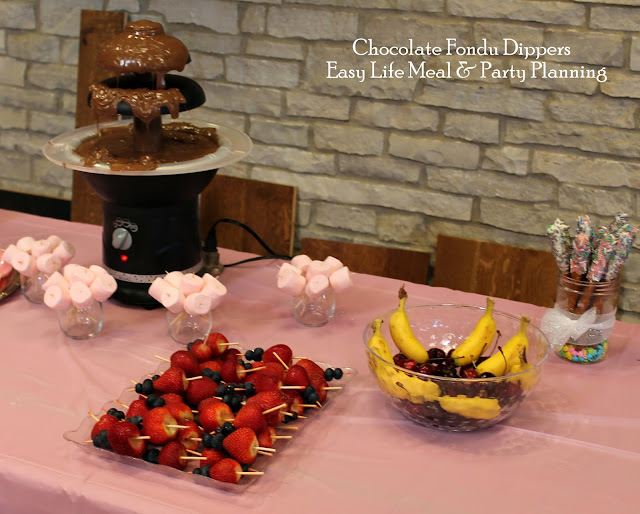 Fondu Table for Baby Shower - Easy Life Meal & Party Planning