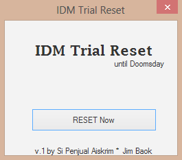 how to reset trial run