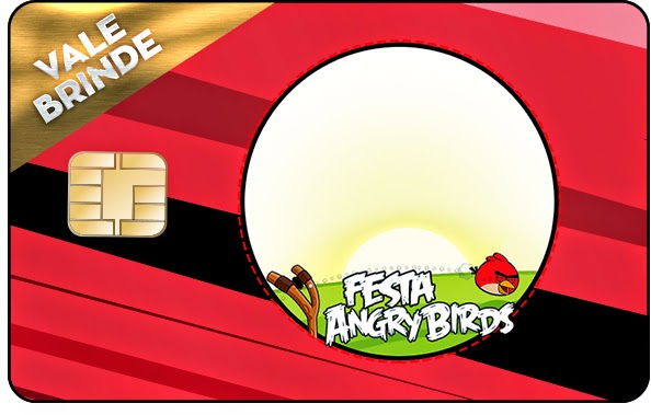 Invitacion con forma de Tarjeta de Credito de Angry Birds.