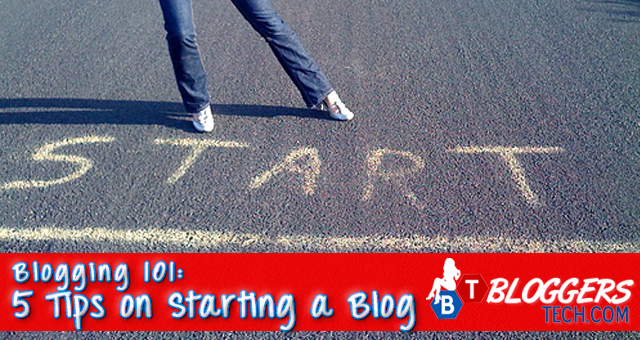 Blogging 101 - 5 Tips on Starting a Blog