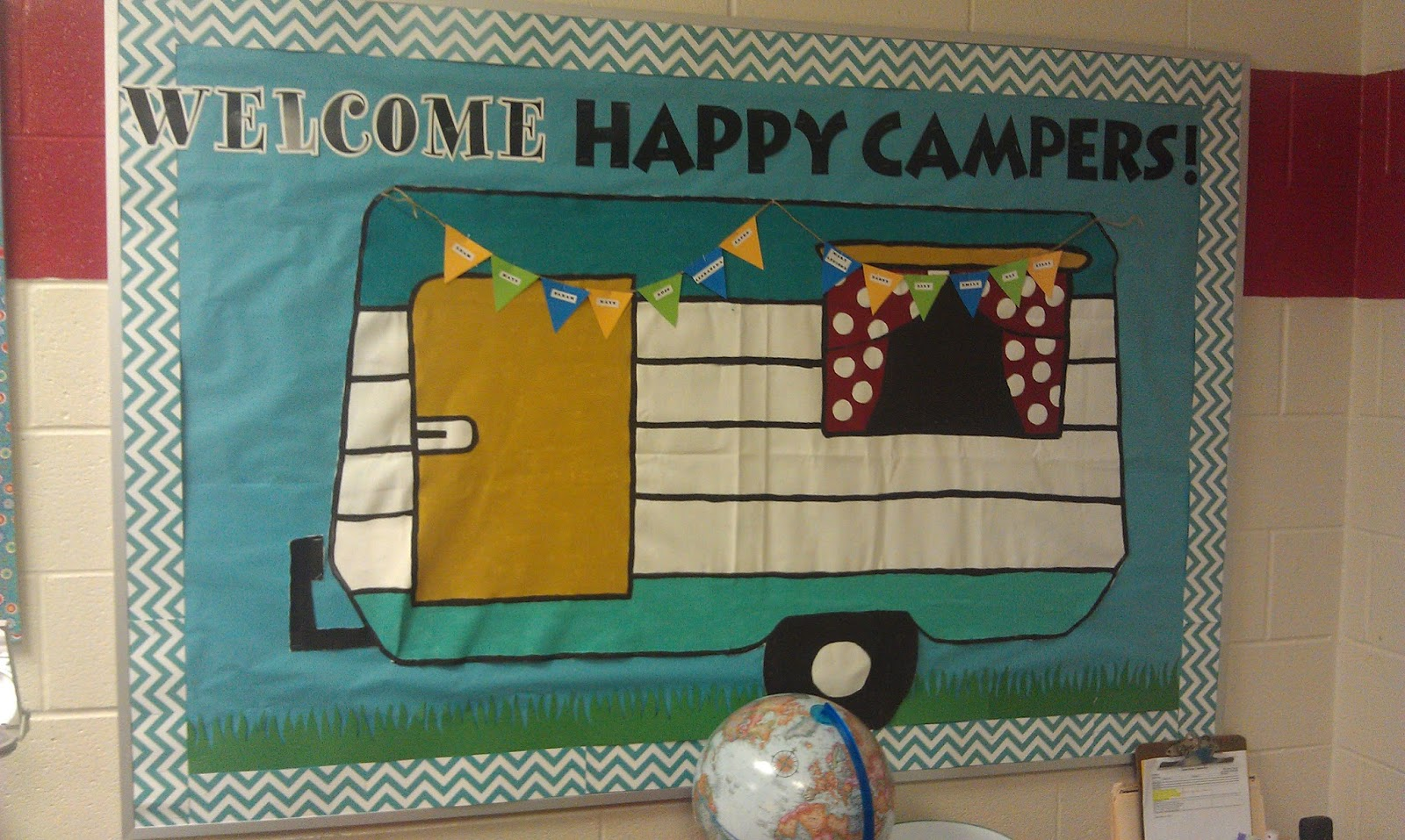 Classroom Decor Camping Theme ~ But by love my camping themed classroom