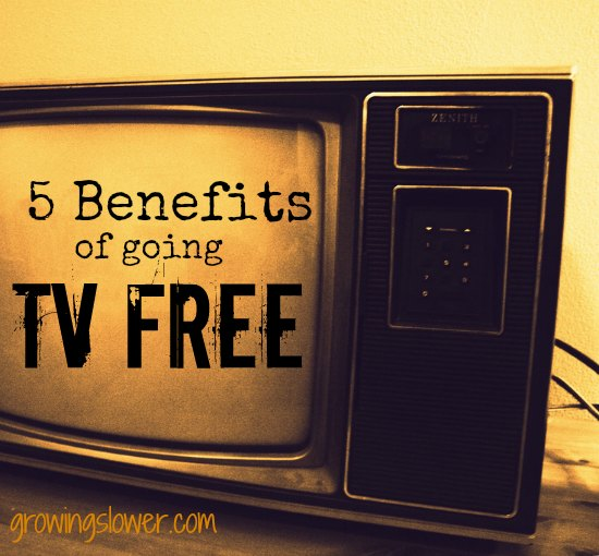 #5 may surprise you...Check out these 5 benefits of going TV free. www.growingslower.com #screenfreeweek #tvfree