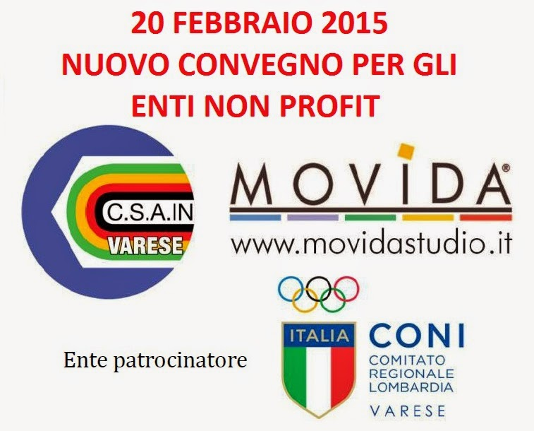 """Immagine """"La gestione corretta e funzionale di un Ente Non Profit"""" - Convegno CSAIn Varese e MOVIDA"""