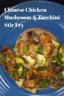 Chinese Chicken Mushroom & Zucchini Stir Fry