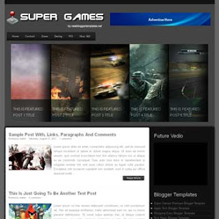 Super Games Blogger Template