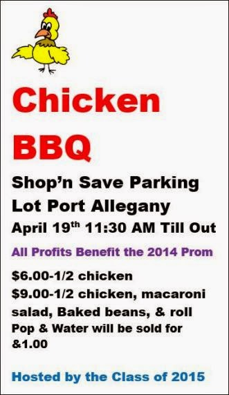 4-19 Chicken BBQ Benefits 2014 Prom