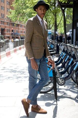 street style london collections men menswear tweed blazer