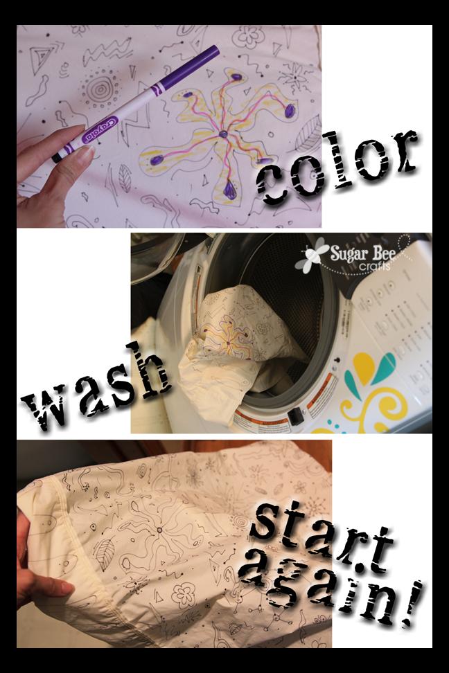 Coloring Sheet Pillowcase - Sugar Bee Crafts