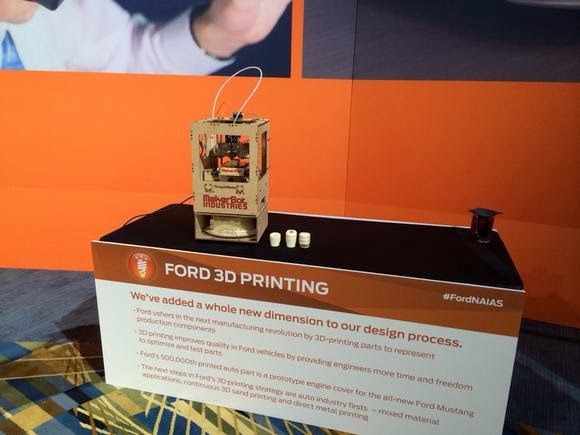 Ford Introduces 3-D Printing Strategy at NAIAS