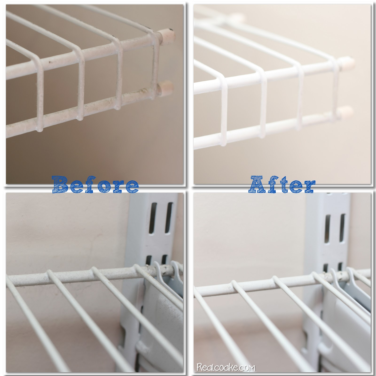 Diy Cleaning Wire Shelves The Real Thing With The Coake