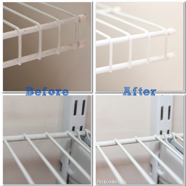 DIY Cleaning Wire Shelves
