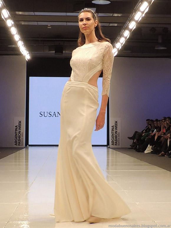 Vestidos de novia Susana Ortiz primavera verano 2015. Vestidos primavera verano 2015.