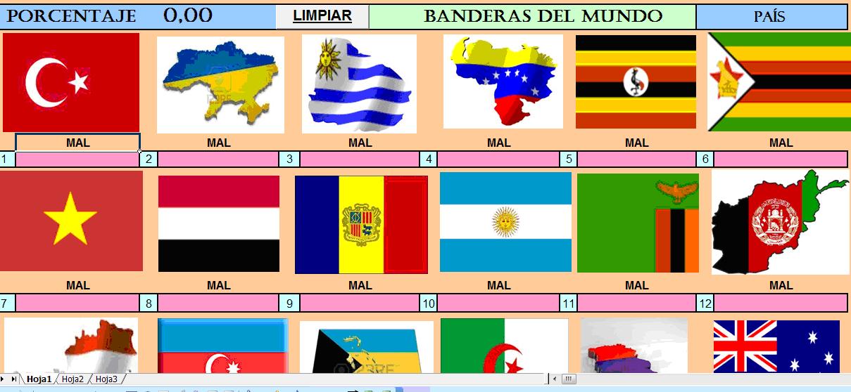Juego para adiviniar el pais de cada bandera del mundo