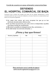 Contra los recortes en el Hospital de Baza