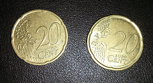 two 20 cent coins