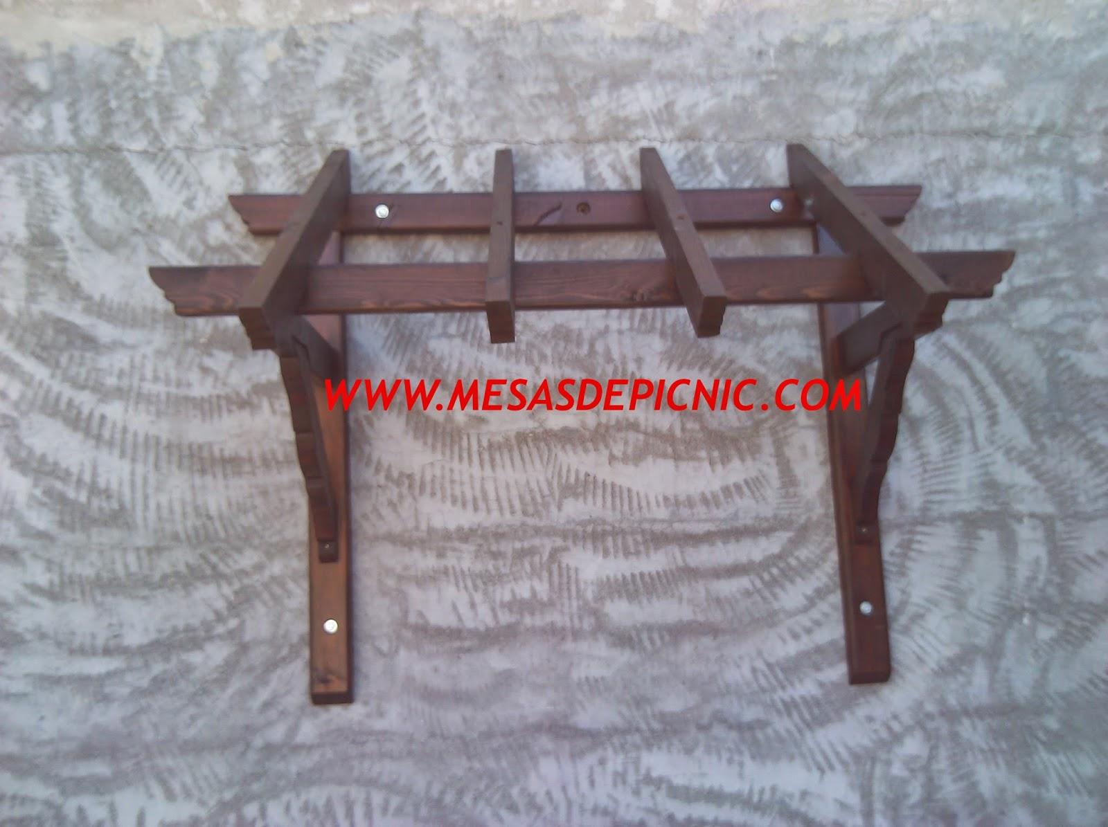 Marquesinas de madera para puertas de entrada cool rustic for Marquesinas para puertas