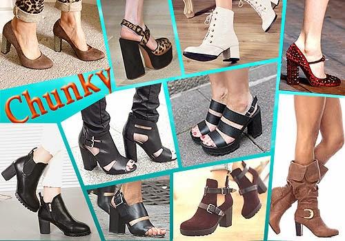 Chunky Heels Style