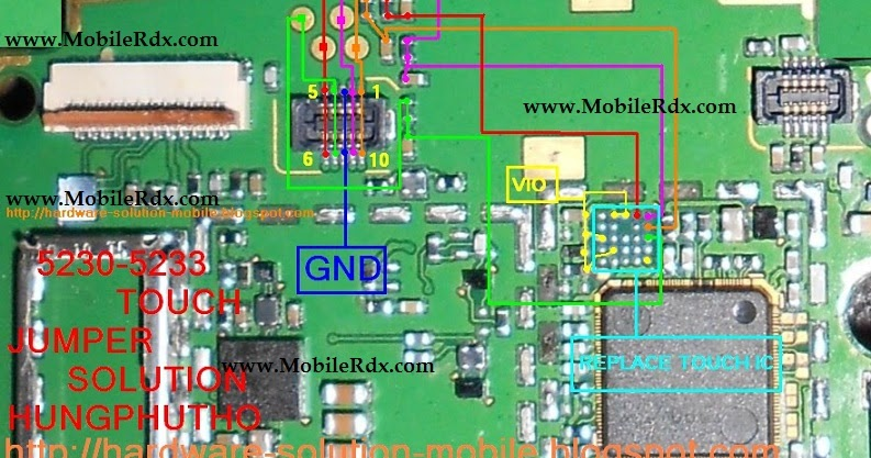 Nokia 5233 touch screen problem repair jumper solution h ng