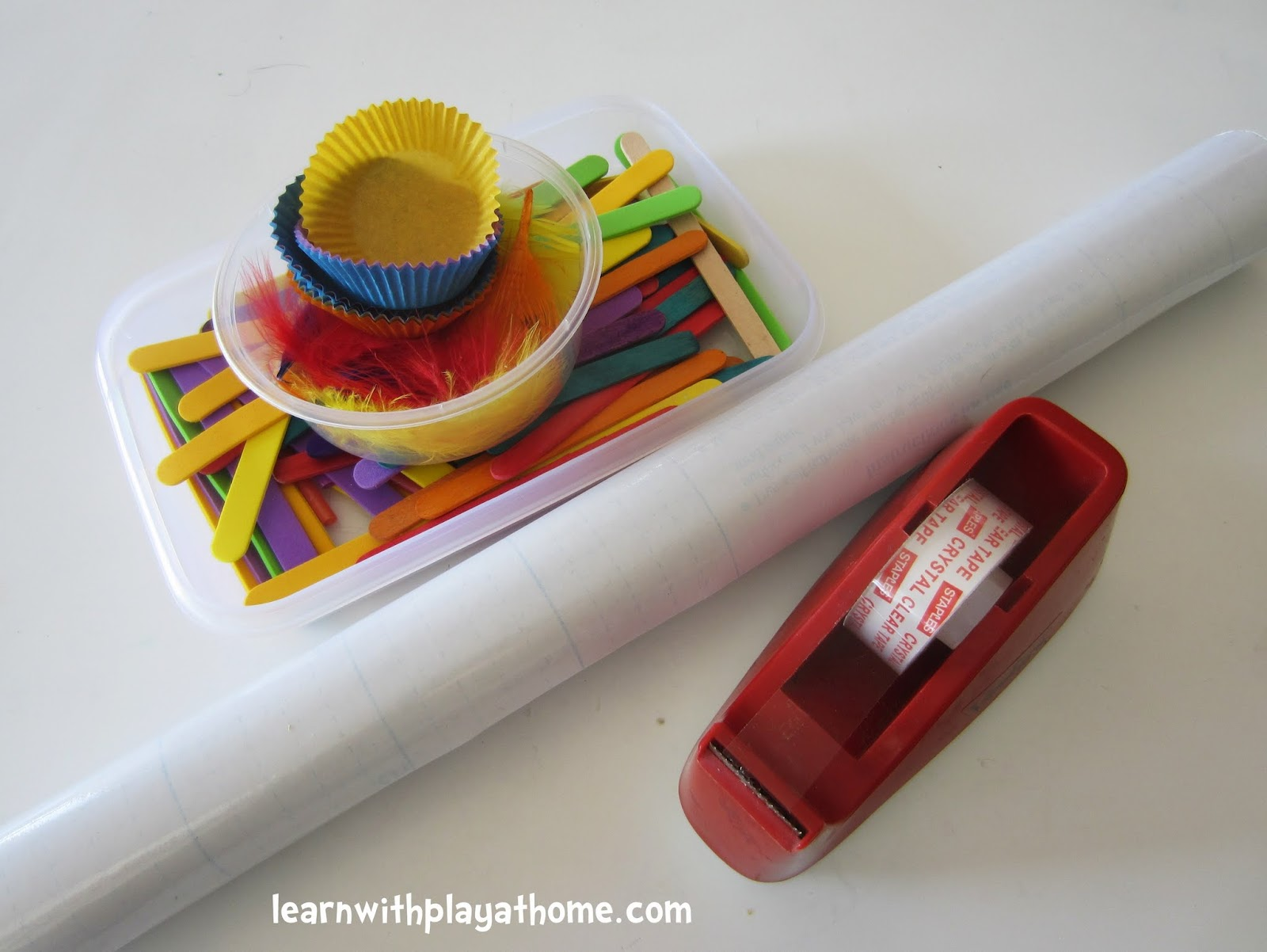 Learn with Play at home: Sticky Table Garden. Contact Paper ...
