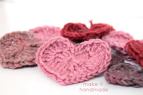 Crochet Heart Magnets Tutorial by Make It Handmade