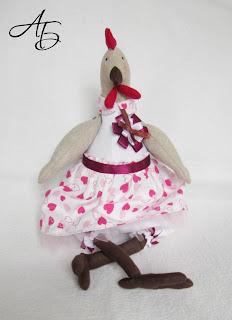 Мои любимые игрушки, текстильная игрушка, курочка, тильда