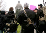 Pro-2nd Amendment demonstrators come carrying Washington state Capitol