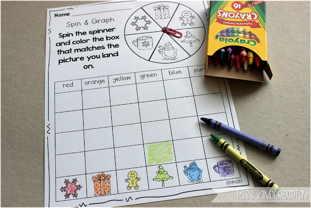 Miss Kindergarten {spin and graph}