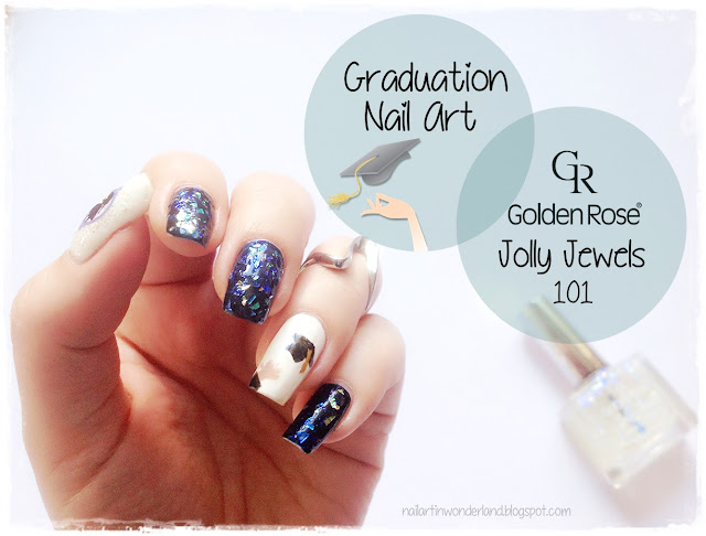 Golden Rose Jolly Jewels 101 Review and Graduation Nail Art