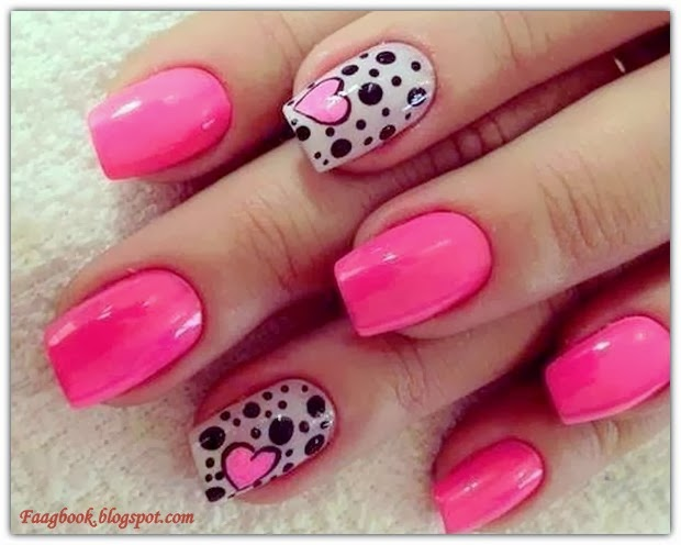 Cute Art Designs : Pink nail art and designs faagbook