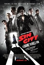 "Poster do filme ""Sin City: A Dama Fatal"""