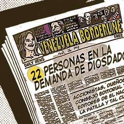 Front page cómic - lista personas demandadas por Diosdado Cabello