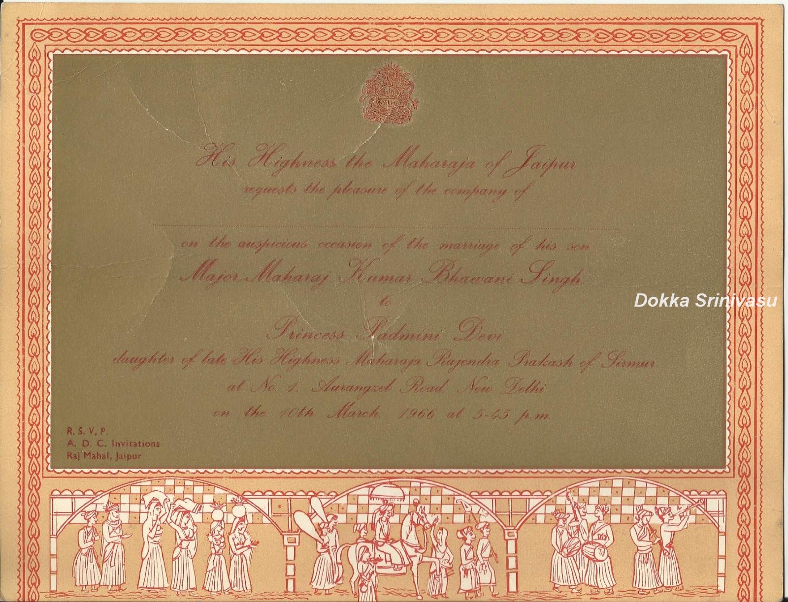 Heritage of india vintage invitation cards of india stopboris Choice Image