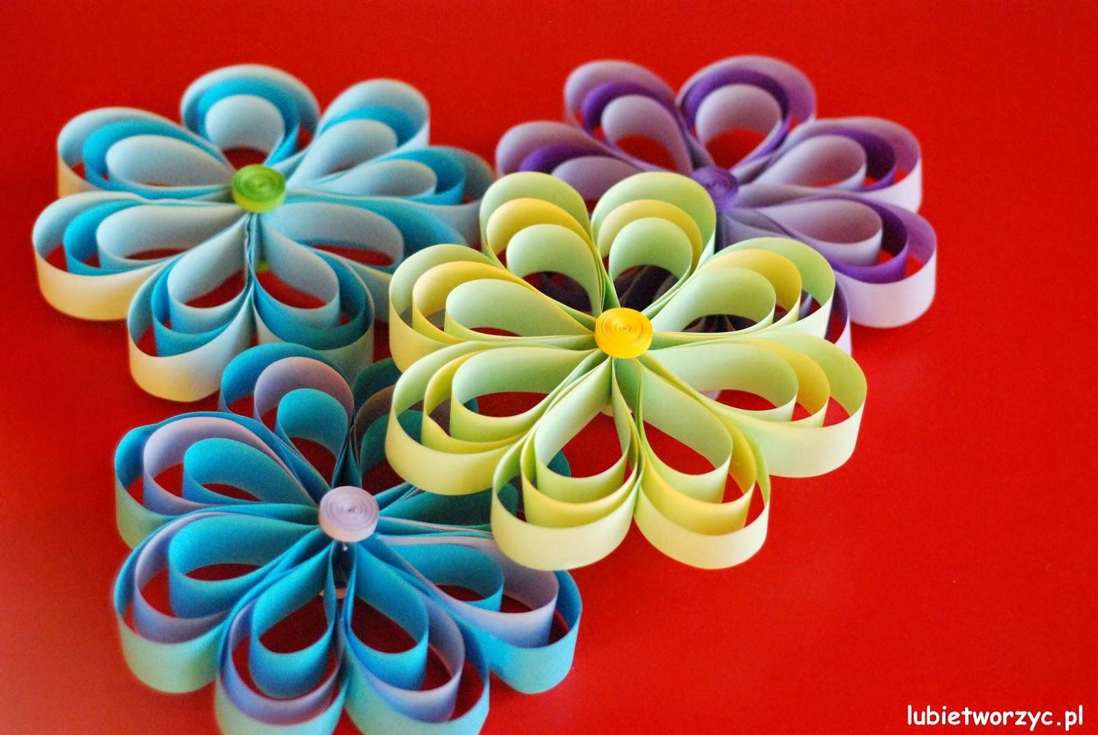 Lubię Tworzyć Kwiat Z Pasków Papieru