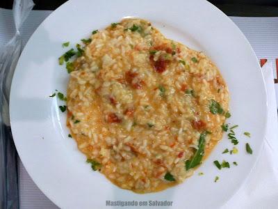 Risotto Mix: Meia porção do Risotto de Tomate Seco com Rúcula