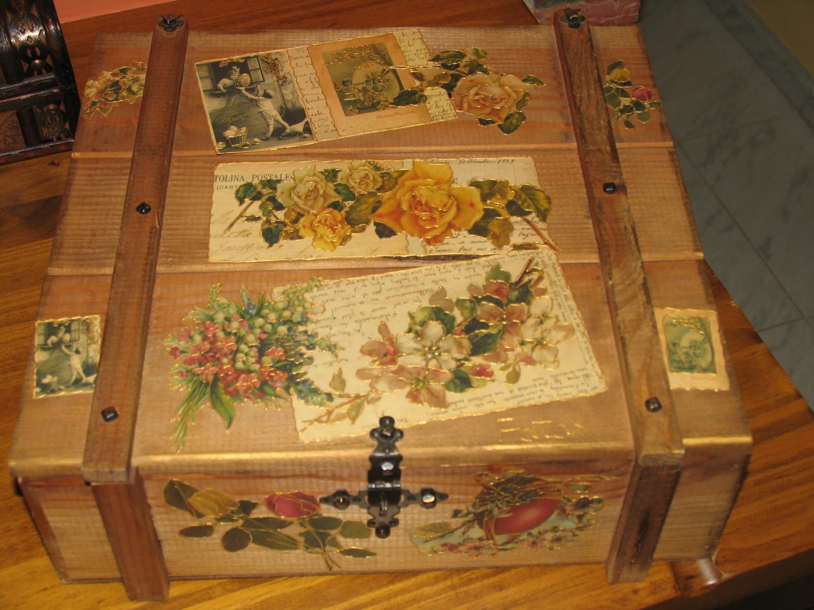 Manualidades cristina y maria cajas de madera decoradas - Manualidades en madera cajas ...