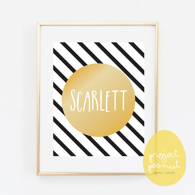 Personalised Child's Name Black & Gold Printable, Wall Art Wall Decor for Kid's Nursery or Playroom | projectpeanut.com.au