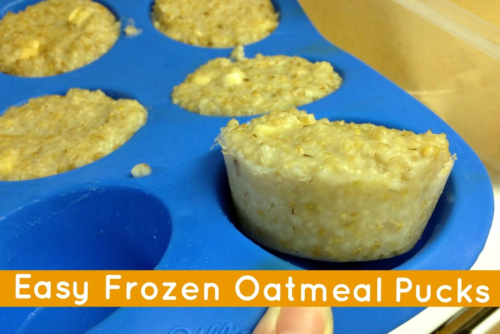 Recipe Frozen Oatmeal Pucks Campfire Chic