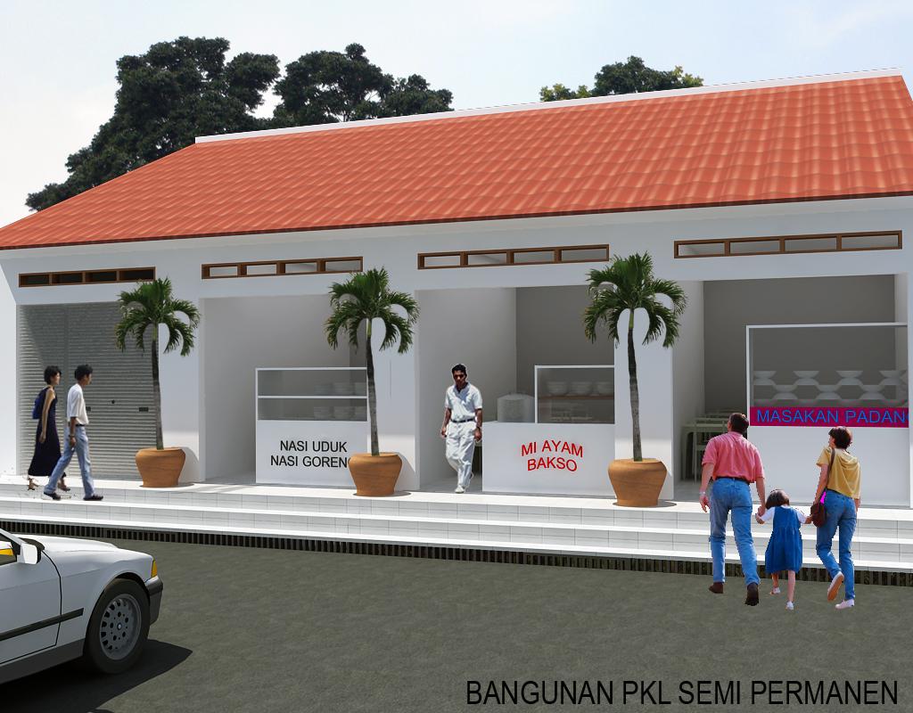 Desain Ruko (PKL) Semi Permanen Jasa Desain Rumah 3D & Desain Rumah Semi Permanen - Desain Rumah Mesra
