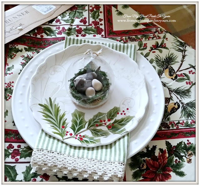 Vintage Christmas- Place Setting-From My Front Porch To Yours
