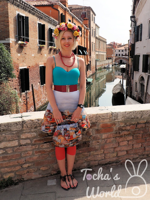 photography, digital print, textile design, pattern cutting, Gran Canaria, Venice, skirt, A-line, Glasgow School of Art, fabric, cotton, satin, pattern, flower crown, bag, handbag, clasp frame, ethical fashion,