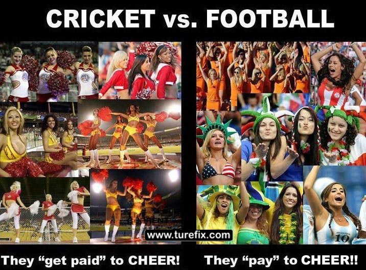 Funny Meme For Hot Girl : Epic funny comments memes pictures: cricket vs football soccer