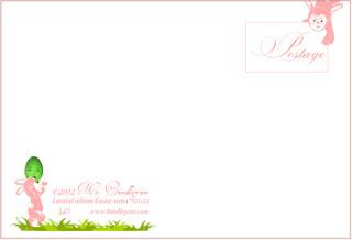 Bindlegrim original limited edition postcard for 2012, postage side.