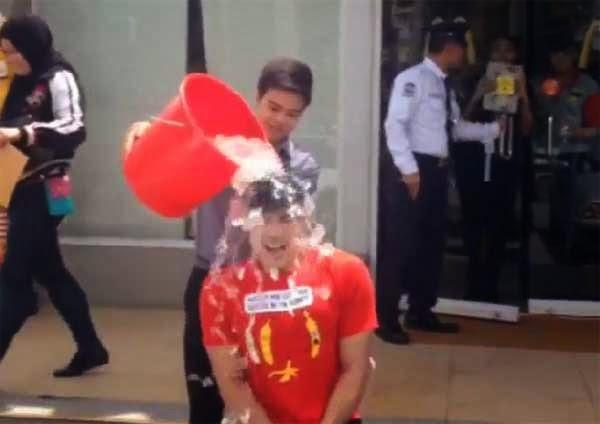 Xian Lim ice bucket challenge