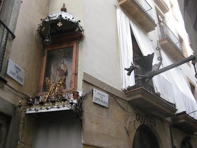 santa eulalia baixada barcelona martir